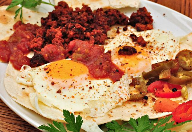 Salsa and eggs