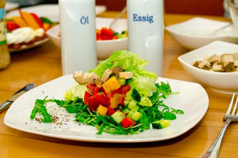 Vegan Tofu Bell Pepper Salad