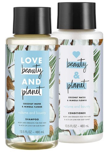 Love Beauty and Planet Shampoo and Conditioners